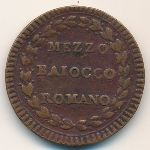 Papal States, 1/2 baiocco, 1786–1797
