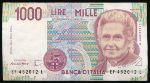 Италия, 1000 лир (1990 г.)