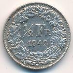 Швейцария, 1/2 франка (1942 г.)