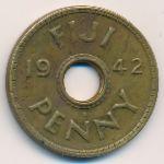 Фиджи, 1 пенни (1942 г.)
