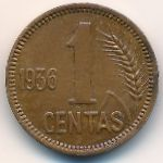 Литва, 1 цент (1936 г.)