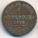 Саксония, 1 пфенниг (1863 г.)
