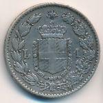 Италия, 1 лира (1887 г.)