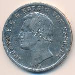 Саксония, 1 талер (1869 г.)