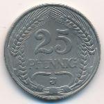 Германия, 25 пфеннигов (1911 г.)