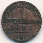 Пруссия, 1 пфеннинг (1863 г.)