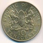 Кения, 10 центов (1984 г.)