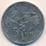Сейшелы, 5 рупий (2007 г.)