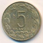 Центральная Африка, 5 франков (1985 г.)
