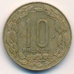 Центральная Африка, 10 франков (1976 г.)
