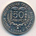 Западная Африка, 50 франков (1984 г.)