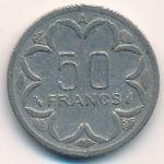Центральная Африка, 50 франков (1990 г.)
