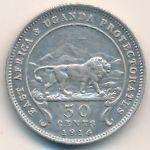 Восточная Африка, 50 центов (1914 г.)