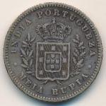 Гоа, 1/2 рупии (1881 г.)