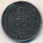 Перу, 1 песета (1880 г.)