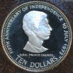 Багамские острова, 10 долларов (1978 г.)