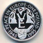 Олдерни, 1 фунт (1995 г.)