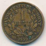 Датская Западная Индия, 1 цент (1859 г.)