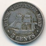 Danish West Indies, 5 cents, 1859