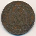 Франция, 10 сентим (1854–1855 г.)