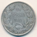 Чили, 1 песо (1917 г.)