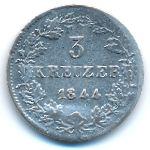 Нассау, 3 крейцера (1844 г.)