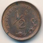 Родезия, 1/2 цента (1970–1975 г.)