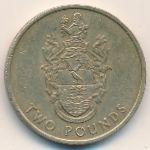 Остров Святой Елены и острова Вознесения, 2 фунта (2002 г.)