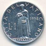 Ватикан, 1 лира (1952–1953 г.)