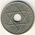 British West Africa, 1/2 penny, 1936