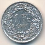 Швейцария, 1 франк (1937 г.)
