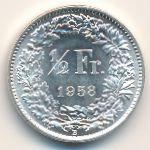 Швейцария, 1/2 франка (1958 г.)