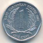 Восточные Карибы, 1 цент (2002 г.)