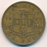 Ямайка, 1 пенни (1942 г.)