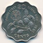 Свазиленд, 20 центов (1981 г.)