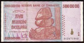 Зимбабве, 5000000000 долларов (2008 г.)