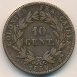 Французские колонии, 10 сентим (1839 г.)