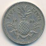 Багамские острова, 5 центов (1966 г.)