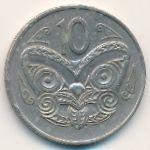 Новая Зеландия, 10 центов (1972 г.)