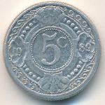 Антильские острова, 5 центов (1989–1999 г.)