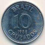 Бразилия, 10 крузадо (1987–1988 г.)