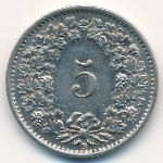 Швейцария, 5 раппенов (1932–1939 г.)