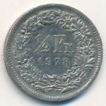 Швейцария, 1/2 франка (1968–1981 г.)