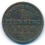 Пруссия, 1 пфеннинг (1858 г.)