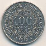 Западная Африка, 100 франков (1970 г.)
