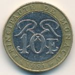 Монако, 10 франков (1991 г.)