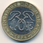 Монако, 10 франков (1994 г.)