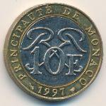 Монако, 10 франков (1997 г.)