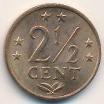 Антильские острова, 2 1/2 цента (1975–1978 г.)