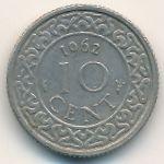 Суринам, 10 центов (1962 г.)